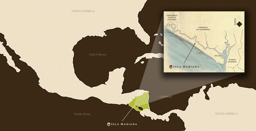 Location of Isla Mariana Beachfront Retreat