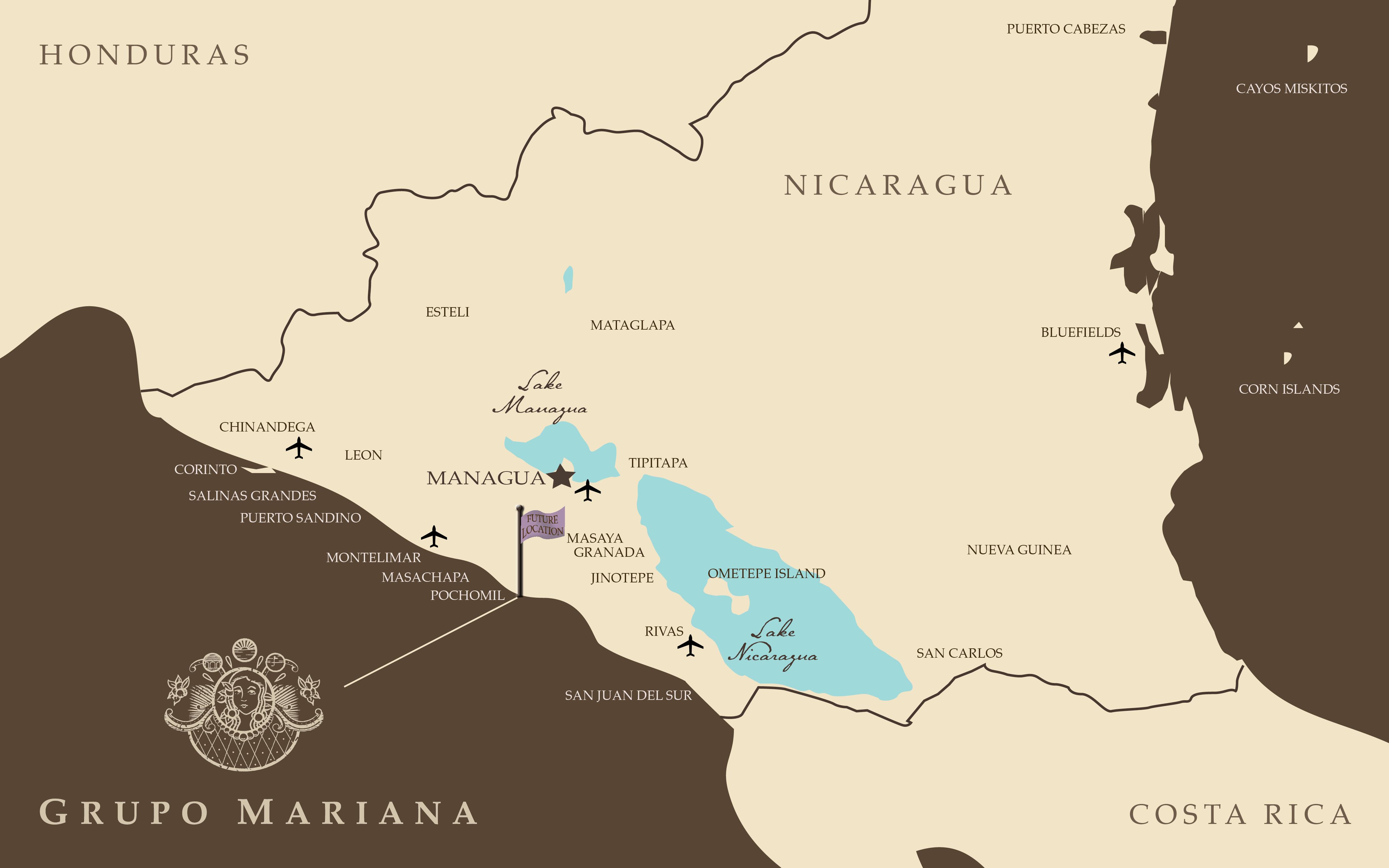 Grupo Mariana Flagship - Nicaragua location on world map